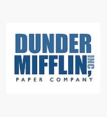 Dunder Mifflin The Office Logo Photographic Print