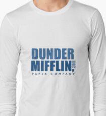 Dunder Mifflin The Office Logo Long Sleeve T-Shirt