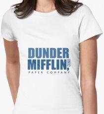 Dunder Mifflin The Office Logo Women's Fitted T-Shirt