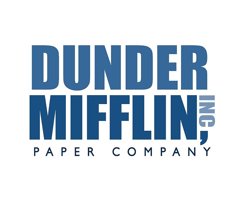 Dunder Mifflin Office Logo Travel Mugs Caseyward