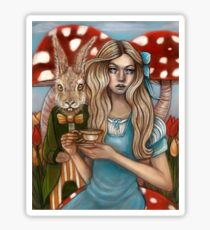 Alice and the March Hare Sticker