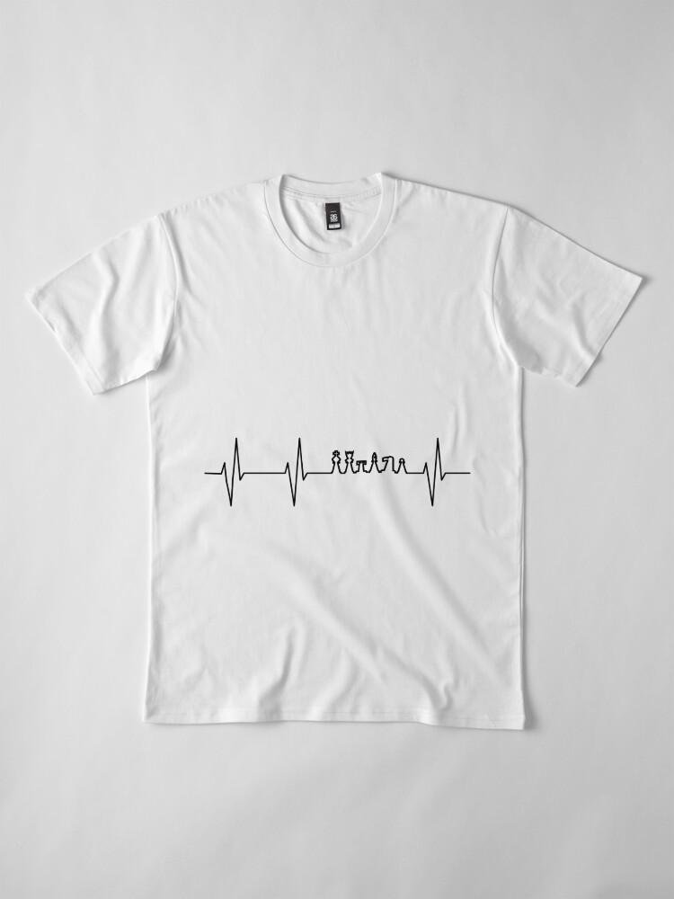 Alternate view of Heartbeat Chess Chess Premium T-Shirt