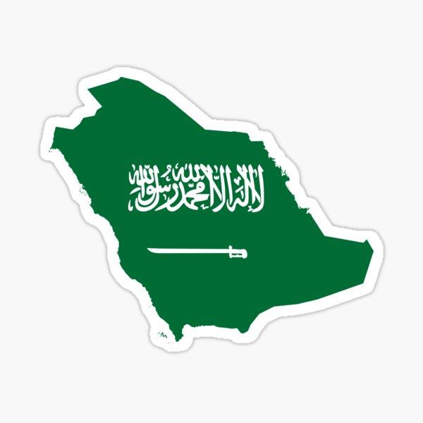 Saudi Arabia Continent Flag Sticker
