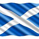 «Ondeando la bandera de Escocia» de PRODUCTPICS