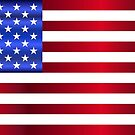 Shiny Flag of The United States by PRODUCTPICS