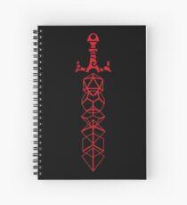 Cuaderno de espiral Red Dice Sword Tabletop Juegos de rol