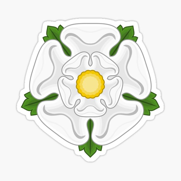 White Rose of York Sticker