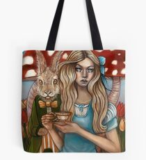 Alice and the March Hare Tote Bag