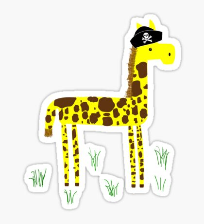 Giraffing Around Sticker