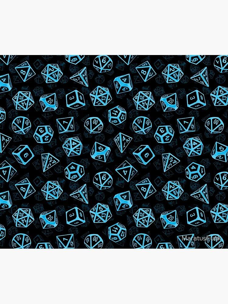D20 Dice Set Pattern (Blue) by MaratusFunk
