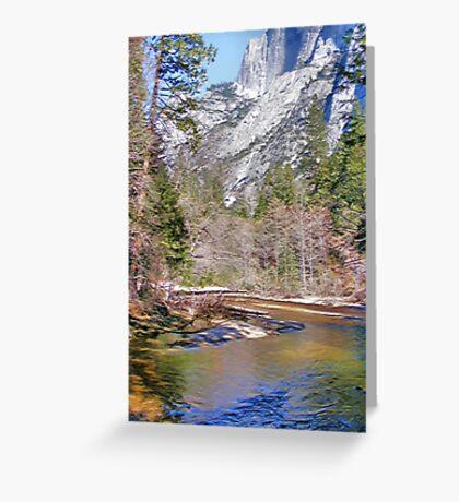 Tanaya Creek ~ Digital Painting Greeting Card