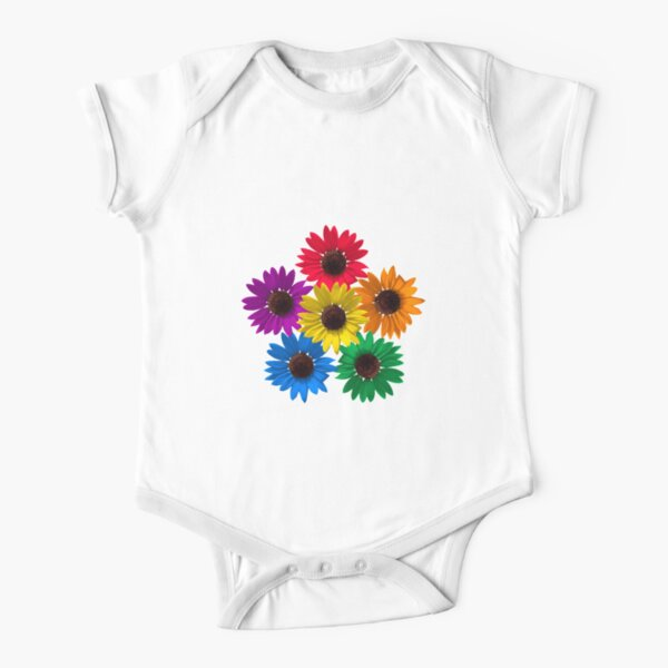 Sunflower Pride Short Sleeve Baby One-Piece