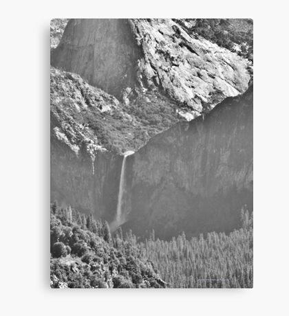 Bridalviel Falls (B&W) Canvas Print