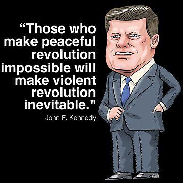 John F. Kennedy by MacKaycartoons