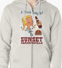 A Fresh Delight! - Sunset Sarsaparilla Poster (Fallout New Vegas) Zipped Hoodie