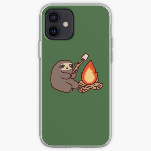 Campfire Sloth iPhone Soft Case