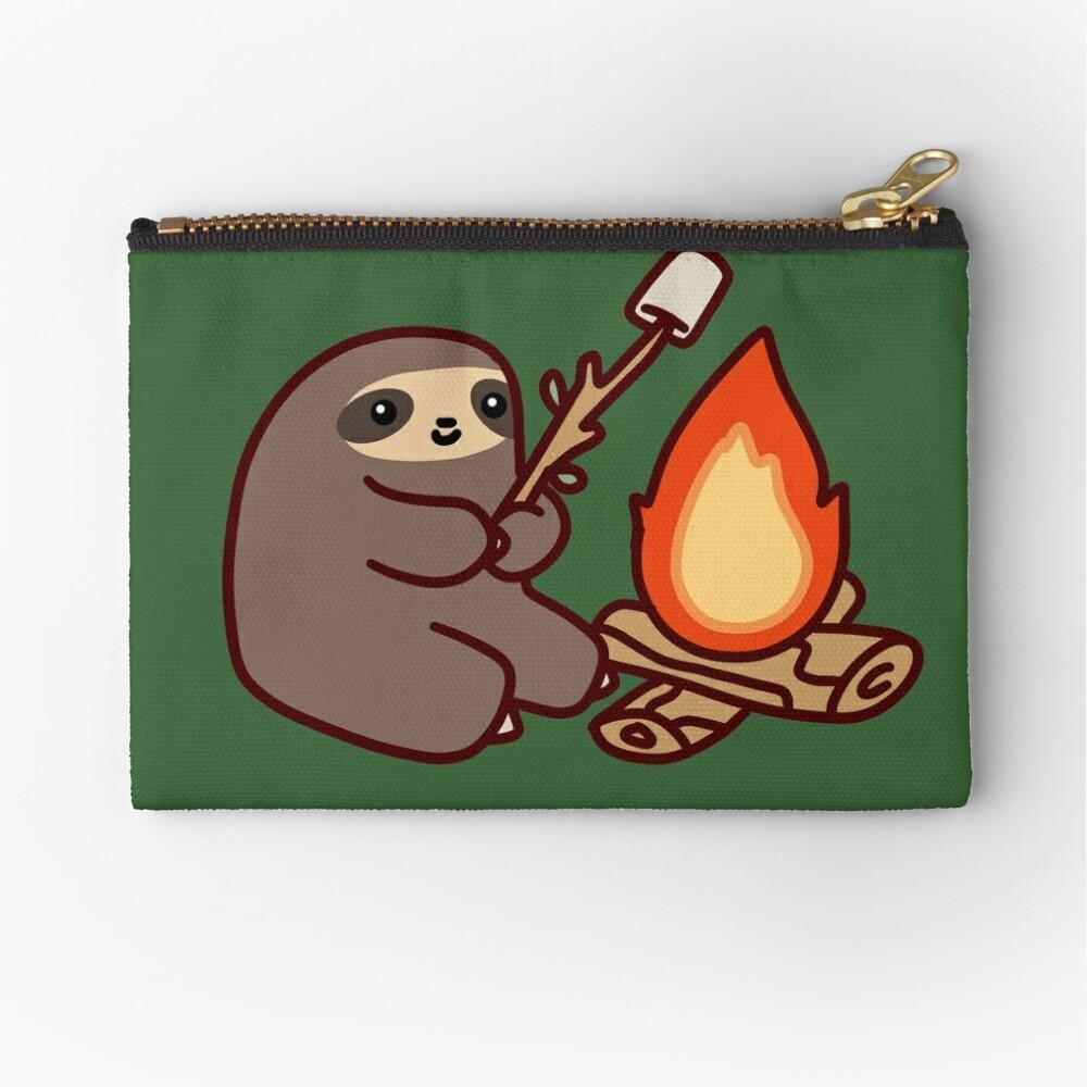 Campfire Sloth Zipper Pouch