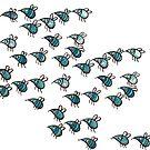Insektenschwarm - Insektenmuster - Muster - Fliegen von JunieMond