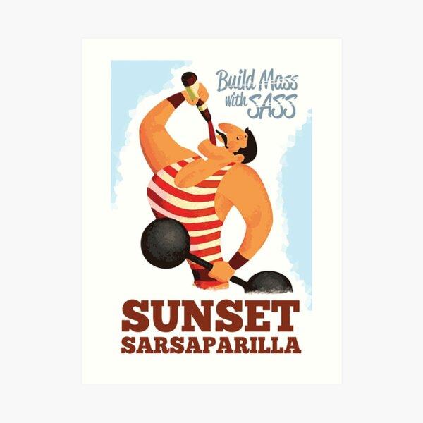 Build Mass with Sass - Sunset Sarsaparilla Poster (Fallout New Vegas) Art Print
