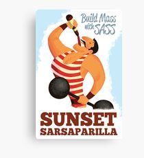 Build Mass mit Sass - Sonnenuntergang Sarsaparilla Poster (Fallout New Vegas) Leinwanddruck