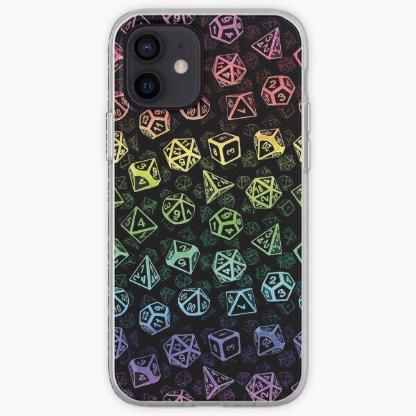 D20 Dice Set Pattern (Rainbow) iPhone Soft Case