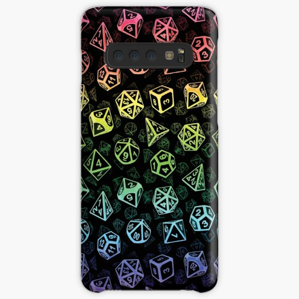 D20 Dice Set Pattern (Rainbow) Samsung Galaxy Snap Case
