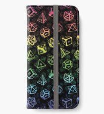 D20 Dice Set Pattern (Rainbow) iPhone Wallet/Case/Skin