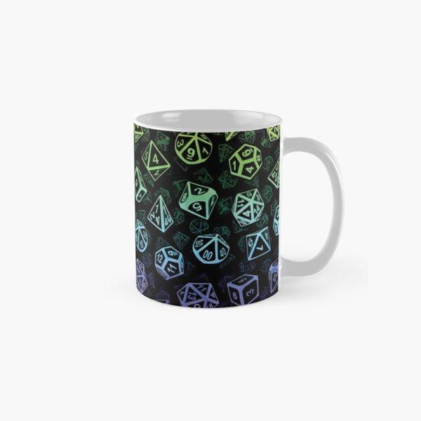 D20 Dice Set Pattern (Rainbow) Classic Mug