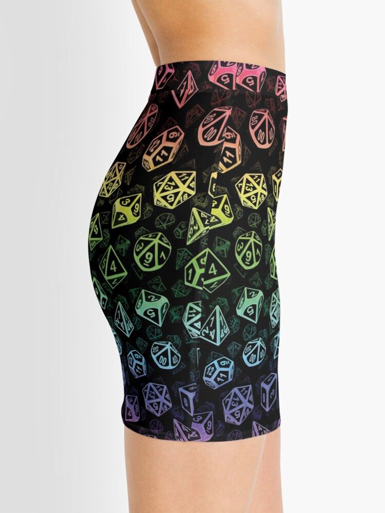Alternate view of D20 Dice Set Pattern (Rainbow) Mini Skirt