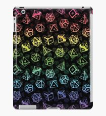 D20 Dice Set Pattern (Rainbow) iPad Case/Skin