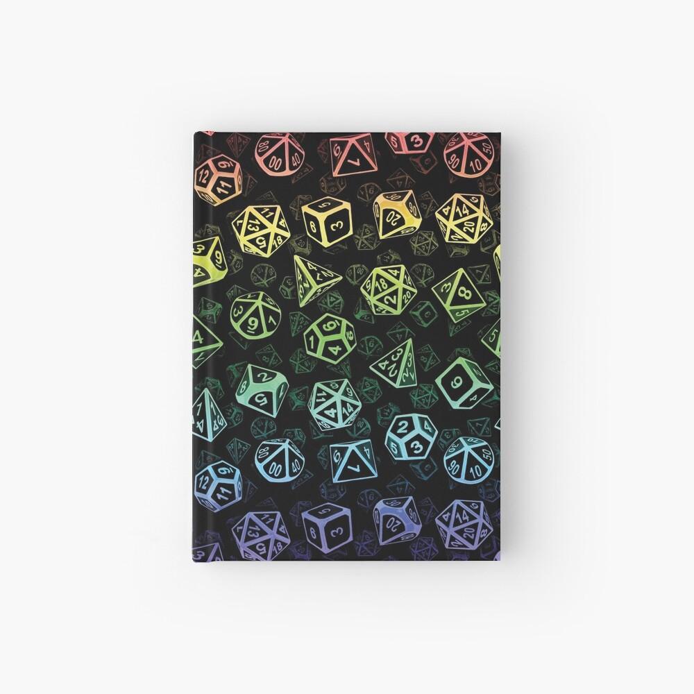 D20 Dice Set Pattern (Rainbow) Hardcover Journal
