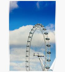 London Eye Blue Sky Poster