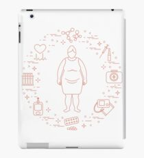 Fat woman, medical devices, tools and medicines. iPad Case/Skin