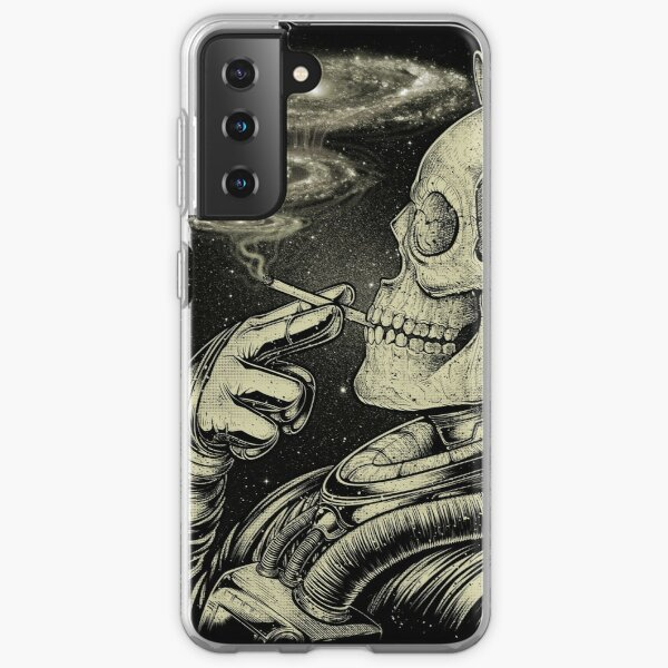 Winya No. 31 Relaxing Skeleton Astroanut Smoking Amoung the Stars in the Space Samsung Galaxy Soft Case