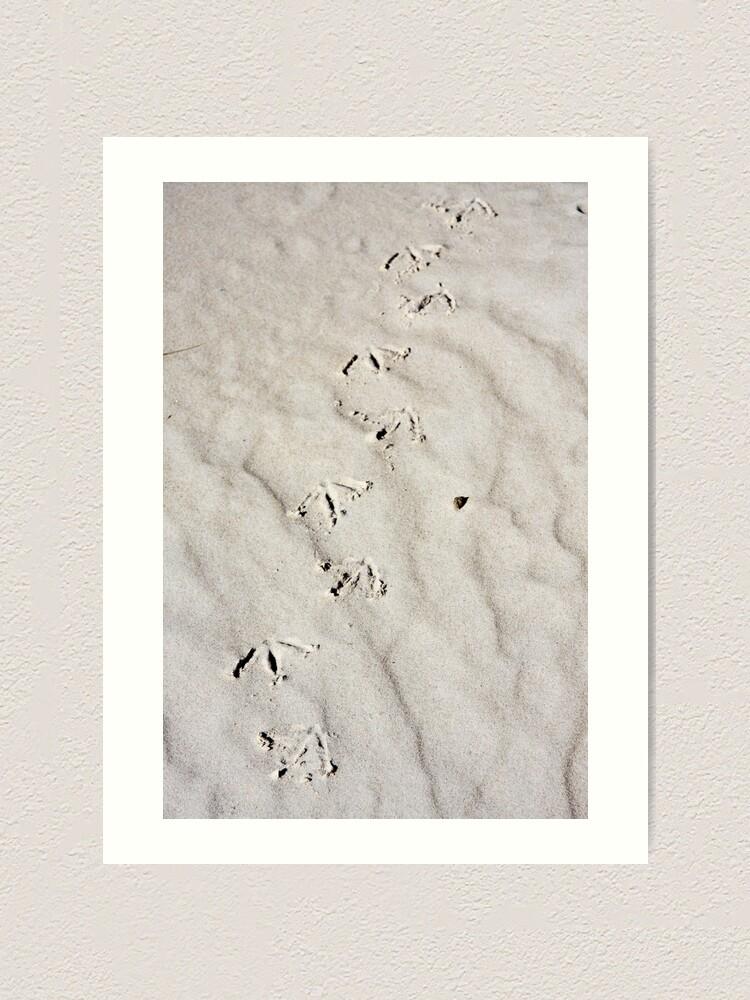 Alternate view of Footprints Art Print