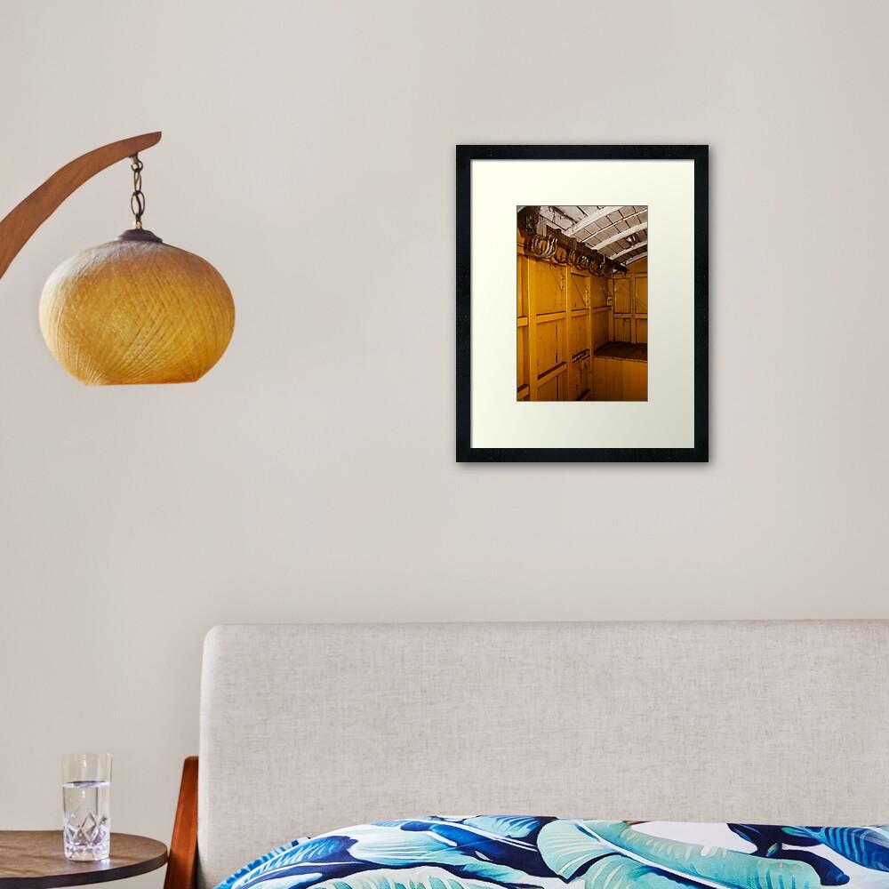 Inside a carriage Framed Art Print