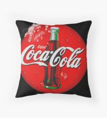 The good taste of real Cola Throw Pillow