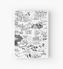 Map of Grad School Hardcover Journal