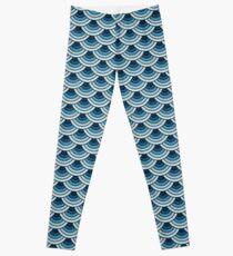 Mermaid scale pattern Leggings