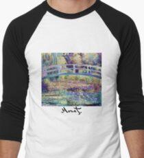 Monet - Japanese Bridge Men's Baseball ¾ T-Shirt