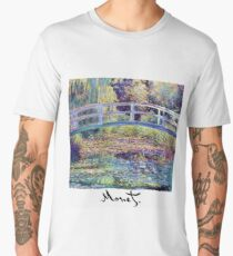 Monet - Japanese Bridge Men's Premium T-Shirt