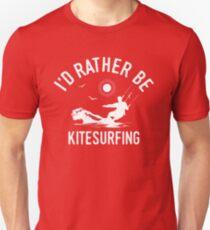Time Is Precious Kitesurfing Kitesurfer T-Shirt - Cool Funny Nerdy Kitesurfen Humor Statement Graphic Image Quote Tee Shirt Gift Unisex T-Shirt
