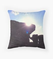 Brimham Rocks Throw Pillow