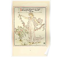 Queen Summer, or, The Tourney of the Lilly and the Rose by Walter Crane 1891 35 - Time's snows shall quench not Poster