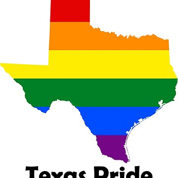 State of Texas Gay Pride Flag Map by MADdesign