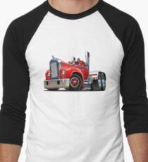 Cartoon retro semi truck Men's Baseball ¾ T-Shirt