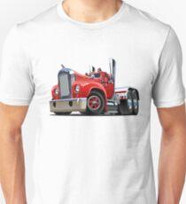 Cartoon retro semi truck Unisex T-Shirt
