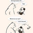 Driving Lesson #1 by Panda And Polar Bear