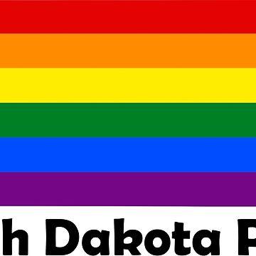 State of North Dakota Gay Pride Flag Map by MADdesign