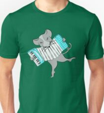 Mouse Playing an Accordion Unisex T-Shirt